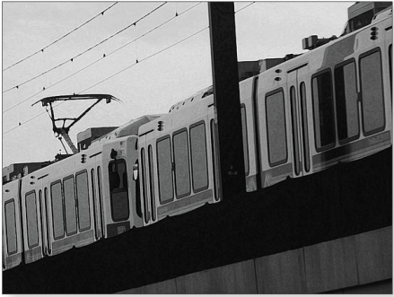 The Light Rail Photograph by Lenore Senior - The Light Rail Fine Art Prints and Posters for Sale